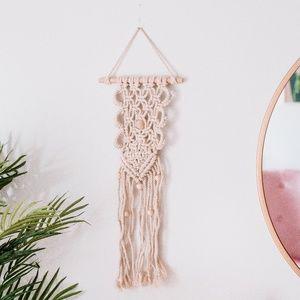 Handmade Woven Beaded Macrame Wall Hanging